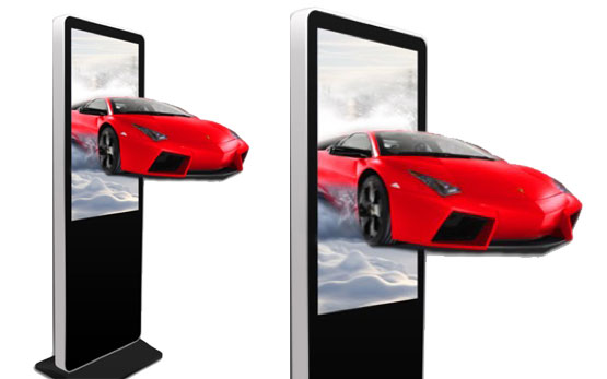 3D Wide Screens Portrait For Advertising